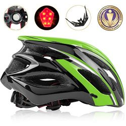 Shinmax Bike Helmet, CPSC Certified Adjustable Lighted Bike Helmet Specialized Cycling Helmet Me ...