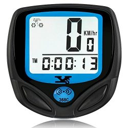 SY Bicycle Speedometer and Odometer Wireless Waterproof Cycle Bike Computer with Digital LCD Dis ...
