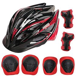 ADMIRE Kids Skateboard Skate Scooter Cycling Bike Helmet with Safety Knee Pads Elbow Wrist Prote ...