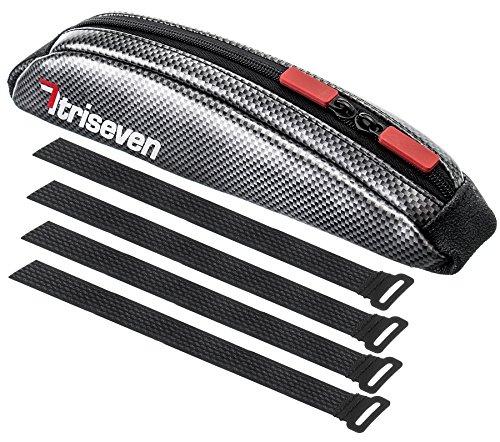 TriSeven Carbon Aero Bag 10Cycling Frame BagLong Distance Triathlon BagMTB Bag0,4L CapacityTop T ...