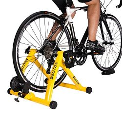 Deuter Indoor Bike Trainer, Portable Bicycle Magnetic Resistance Exercise Stand with Noise Reduc ...