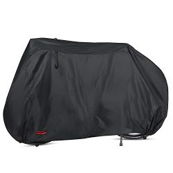 Waterproof Bike Cover 29 Inch Heavy Duty 210D Oxford Bicycle Cover with Double stitching & H ...