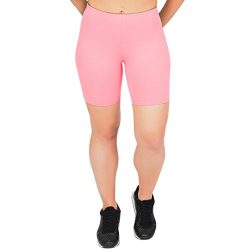 Stretch is Comfort Women's Cotton Bike Shorts Light Pink 2X