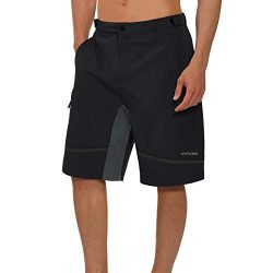 Hifunk Men's MTB Mountain Bike Cycling Shorts Loose-Fit Quick Dry Lightweight Baggy Bicycl ...