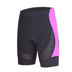 Beroy Womens Bike Shorts with 3D Gel Padded,CYCLING WOMEN'S SHORTS with Mesh, Dark Purple, ...