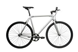 SXL Expressway Urban Track Bike Fixed/Single Speed (Matte Grey, Medium)