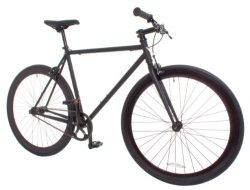 Vilano Rampage Fixed Gear Fixie Single Speed Road Bike, Matte Black, Medium/54cm