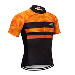 NASHRIO Men's Cycling Jersey Short Sleeve Road Bike Biking Shirt Tops Bicycle Clothes R ...