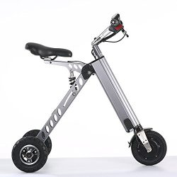 TopMate Mini Electric Tricycle, Foldable Small Size and Light Weight, Suitable for Travel and Le ...