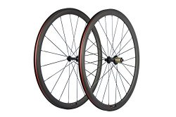 SunRise Bike 1 Pair of Road Bike Carbon 700C Clincher Wheelset Super Light Bicycle Wheels 38mm D ...