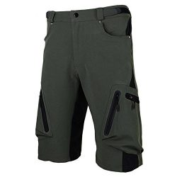 Cycorld Mens Mountain Bike Biking Shorts, Water Repellent MTB Shorts, Loose Fit Cycling Baggy Pa ...