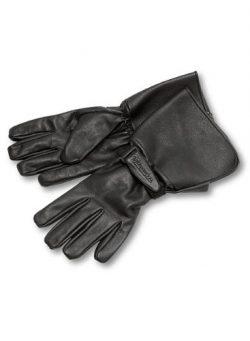 Milwaukee Motorcycle Clothing Company Men's Leather Gauntlet Riding Gloves (Black, Medium)