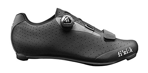Fizik R5 Uomo BOA Road Cycling Shoes, Black/Dark Grey, Size 41 Black/Dark Grey