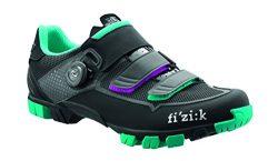 Fizik Women's M6 Donna BOA Mountain Cycling Shoes, Black/Anthracite/Emerald Green, Size 41 ...