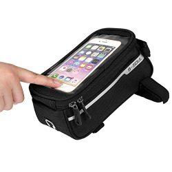 ORFORD Bike Bags Frame Waterproof Bicycle Phone Bag Waterproof Top Tube, Touch Screen Bike Mobil ...