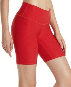 Tesla TM-FYS11-RED_Small Shorts 7″ Bike Running Yoga w Hidden Pockets FYS11