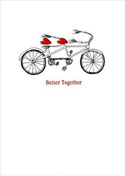 Tandem Bike APress Wedding Anniversary Card/Glitter