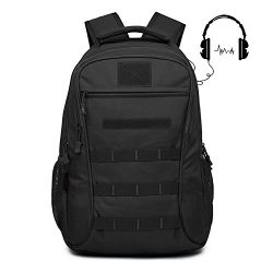 Qcute Backpack, Schoolbag, Business Laptop Computer Rucksack, Tactical Package, with USB Chargin ...