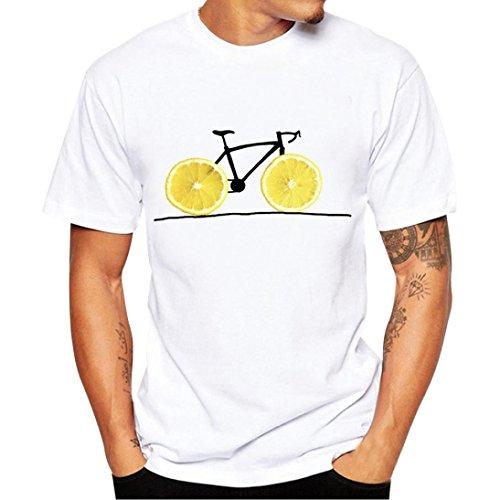 Bookear Tops Personality Skull Printing Tees Tops Short Sleeve T Shirt Blouse Hip-Hop Henley Shi ...