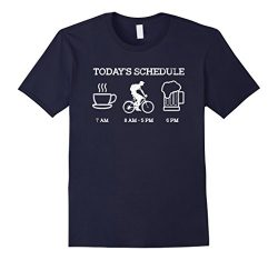 Mens Today's Schedule – Cycling Mountain Biking Bike T Shirt Large Navy