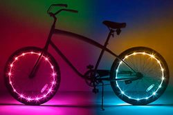 Brightz WheelBrightz LED Bicycle Wheel Accessory Light (2-Pack Bundle for 2 Tires), Color Morphing