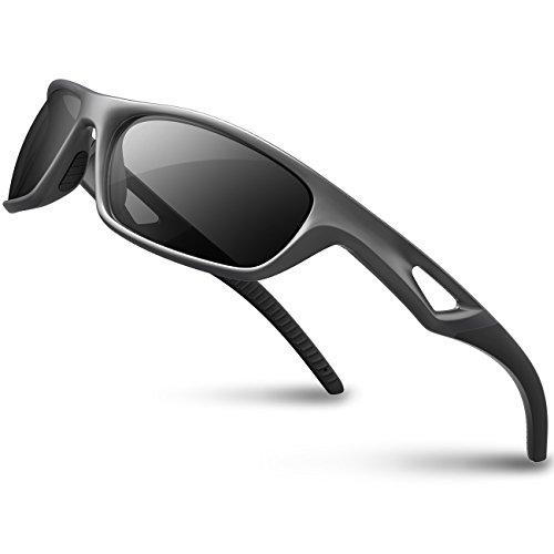 RIVBOS Polarized Sports Sunglasses Driving Sun Glasses Shades for Men Women Tr 90 Unbreakable Fr ...