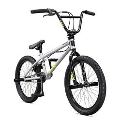 Mongoose Legion L10 20″ Freestyle BMX Bike, Silver