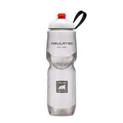 Polar Bottle Zipstream Breakaway – 24oz Insulated Water Bottle (White)