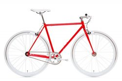 State Bicycle Fixed Gear/Fixie Single Speed Bike, Flip – Flop Hub, Vans Grips (Hanzo (Red) ...