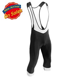 Przewalski Men's 3D Padded Cycling Bike Bib Shorts, Excellent Performance and Better Fit (3/4 Ca ...
