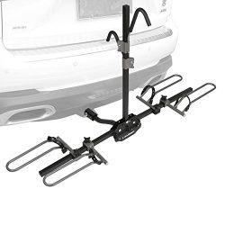 IKURAM 2-Bike Platform Hitch Mount Tray Rack Heavy Duty Bicycle Carrier