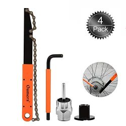 Oumers Bike Cassette Removal Tool, Cassette Freewheel Removal Tool with Chain Whip and Auxiliary ...