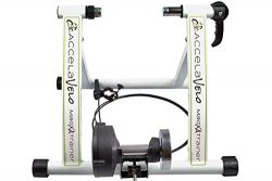 AccelaVelo Mag-XA Indoor Adjustable Magnetic Bike Trainer – 6 Levels Of Resistance – ...