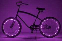 Brightz WheelBrightz LED Bicycle Wheel Accessory Light (2-Pack Bundle for 2 Tires), Purple