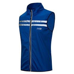 Bpbtti Men's Hi-Viz Safety Running Cycling Vest(X-Large – Chest 42-44 Royal Blue)