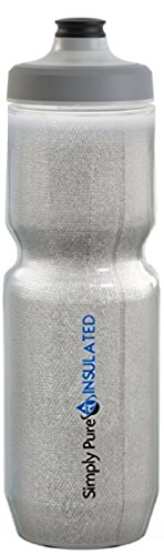 Simply Pure Hydration Purist 23 Oz Insulated Water Bottle with Watergate Cap Sport Bottle &#8211 ...
