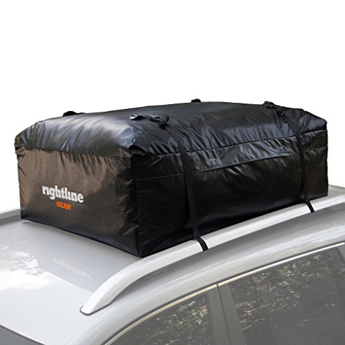 Rightline Gear 100A20 Ace 2 Car Top carrier, 15 cu ft, Weatherproof, Attaches With or Without Ro ...