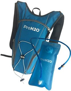 ProH2O Hydration Backpack for Running, Hiking, Cycling – Ergonomic Design Molds to Your Ba ...