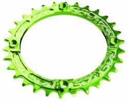 Race Face 104mm Single Chain Ring, Green, 30T 9/10/11 Speed