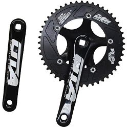 ganopper 48T Single Speed Road Bike Crank Set 130mm BCD PCD 5 Arm Track Fixed Gear Bicycle Crank ...