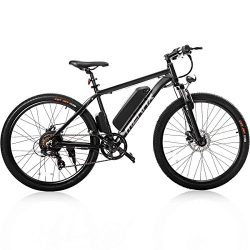 "Merax 26"" Aluminum Electric Mountain Bike Shimano 7 Speed E-Bike, 36V Lithium Battery 350W Elect ..."
