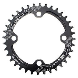 CYSKY Narrow Wide Chainring 104BCD 36T 4 Bolts Bike Single Chainring for 9 10 11 Speed, Perfect  ...