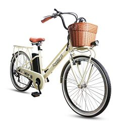 NAKTO/SPARK 26'' Ebike City Electric Bicycle 250W Electric Bike for Women Removable Large Capaci ...