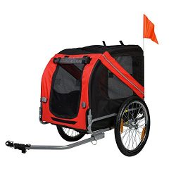 BuyHive Pet Bike Trailer Foldable Dog Cat Bicycle Trailer Jogger Shopping Wagon