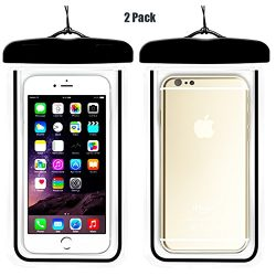 (2Pack) Universal Waterproof Case, CaseHQ IPX8 Waterproof Phone Pouch Dry Bag for iPhone X/8/8pl ...