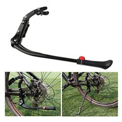 FOXNOVO Adjustable Kickstand Kick Stand Mount for MTB Mountain Bicycle Cycling Fits 24″-28 ...