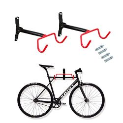 Voilamart Bike Wall Mount Hanger, 2pcs Indoor Storage Rack, Garage Bicycle Holder Hook Folding S ...