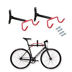 Voilamart 2pcs Bike Wall Mount Hanger – Indoor Storage Rack, Garage Bicycle Holder Hook Fo ...