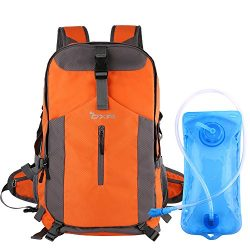 OXA 40L Hydration Backpack, Day Pack Perfect for Camping, Hiking, Running, Cycling, Biking, Clim ...
