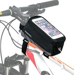 ArcEnCiel Cycling Bike Bicycle Frame iPhone Holder Pannier Mobile Phone Case Bag Pouch For ≤ 5.7 ...